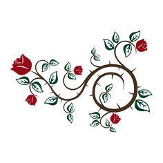 Vinilos Decorativos Adhesivos Rosas Naturaleza