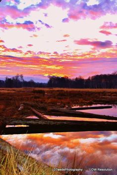 Sunset Photograph Reflection Photo Dramatic by LDTwedePhotography, $7.99