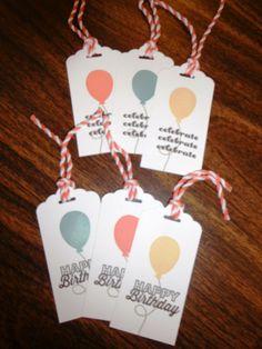 birthday tags - May 2015 my paper pumpkin