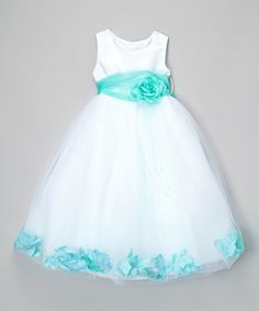 Look what I found on #zulily! Mint Floral A-Line Dress - Toddler & Girls by Kid's Dream #zulilyfinds
