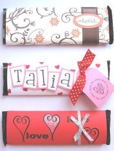 Stamped Candy Bar Wrappers — craftbits.com