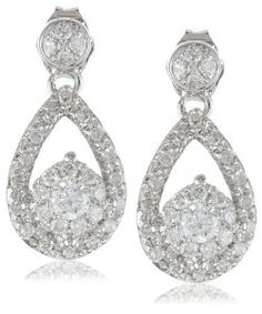 14k White Gold Teardrop Diamond Earrings (1/2 cttw, I-J Color, I1-I2 Clarity)  http://electmejewellery.com/jewelry/earrings/14k-white-gold-teardrop-diamond-earrings-12-cttw-ij-color-i1i2-clarity-com/