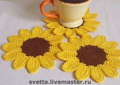 Sunflower Coaster - Crochet