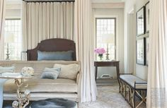 layered and draped ... bedroom loveliness