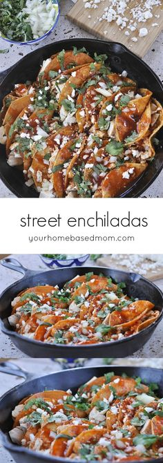 Street Enchiladas can be found throughout Mexico in outdoor markets and food stands. After all the cooking you may have done this past Easter weekend today's recipe comes together quickly and easily.