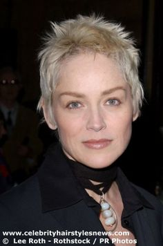 Sharon Stone| hairstyles | pixie-cut | long | hair | extensions ...