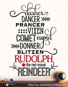 Wall Art Decal  Rudolph the Red Nosed Reindeer