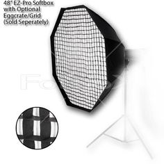 Fotodiox 10SBXAB48OTEZ Pro Studio Solutions EZ-Pro 48-Inch Octagon Softbox with Speedring for Alien Bees/Alienbees (Black) | Studio lighting