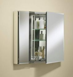 "View the Kohler K-CB-CLC3026FS 30"" x 26"" Double Door Reversible Hinge Frameless Mirrored Medicine Cabinet at Build.com."