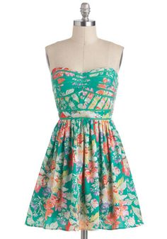 How's this dress, with a yellow cardigan, wedge sandals, and a big floppy hat, for my upcoming Carribbean cruise?? :-)