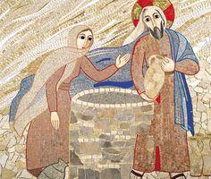 Jésus et la Samaritaine - Marko Rupnik
