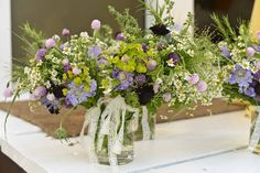 Wildflowers for the tables.
