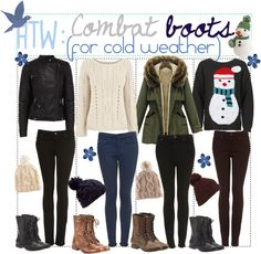 """How To Wear: Combat Boots (For Cold Weather)"" by missbreaxo ❤ liked on Polyvore"