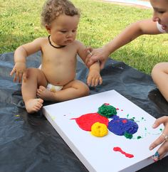 Knox's 1 Painting - 1st Birthday Tradition