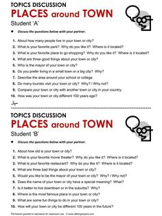 Useful worksheet for conversation basis on students' native towns and countries. Can also be used for Cambridge exam part 1 practice.