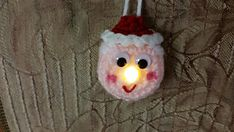 Cute ornament makes a perfect stocking stuffer, secret Santa or teacher gift. Easy and quick to make, you can use any worsted wt. 4 yarn.