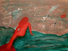 ARTFINDER: Space Mermaid by Daniel C. Barbu - This painting was inspired by one of my photography. The story behind it, is a  mermaid feeling alone in the universe. and looking at her future.  Hope you ...