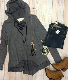 Friday night football is here. That means new hoodies are needed!🍂🏉 #xoxoAL4You #fridaynightfootball #hoodieobsessed #softestyet #apricotlanemissoula Jagged Tied Up Hoodie $46 Call (406)721-2280 or use the link below to order! http://form.jotform.us/form/52044697810154