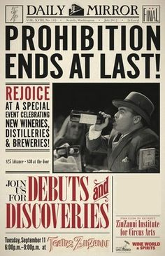 December 5, 1933 Prohibition Ends @Lauren Copeland we should start celebrating this every year!!