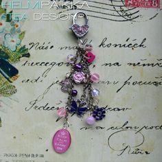 Pinkki laukkukoru tilaustyönä <3 #customwork #pink #bagjewelry #glitter #bling