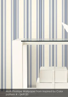 Multi Pinstripe wallpaper from Inspired by Color
