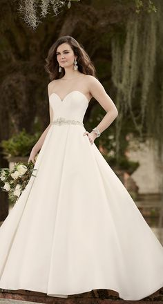 2016 trending strapless Pearl Mikado bridal gown from Essense of Australia Gown  Wedding 2f64f2c8c417