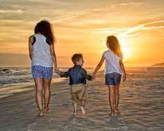 Candid sunset portraits of the kids! #DestinBeachPhotography #BeachPortraits