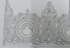 Indian Embroidery Designs, Couture Embroidery, Embroidery Saree, Hand Embroidery Patterns, Art Patterns, Pattern Art, Pattern Design, Saree Border, Textile Prints