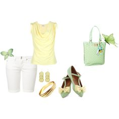 """""""lemon and mint"""" by buzzbee-585 on Polyvore"""