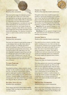 The Forgotten ARchives Items by PoundTown00  DnD 5e Homebrew