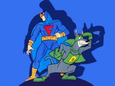 Blue Falcon & Dynomutt Watch Cartoons, Retro Cartoons, Old Cartoons, Classic Cartoons, Vintage Cartoon, Retro Vintage, Cartoon Tv Shows, Cartoon Characters, Fictional Characters