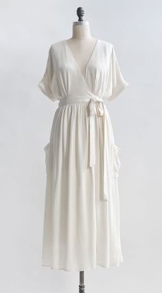 Feminine Romantic White Wrap Dress   Vintage Inspired Wrap Dress   Mists of  Avonlea Dress Vintage 8a82f3210