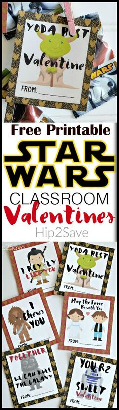 Star Wars Inspired Classroom Valentines (With Free Printables). These are just too cute. Print them out and give them to you whomever is your Valentine's.