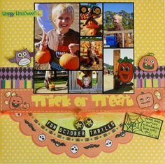 Fun October Thrills - Scrapbook.com - Great fall themed layout. #scrapbooking #bestcreationinc #halloween