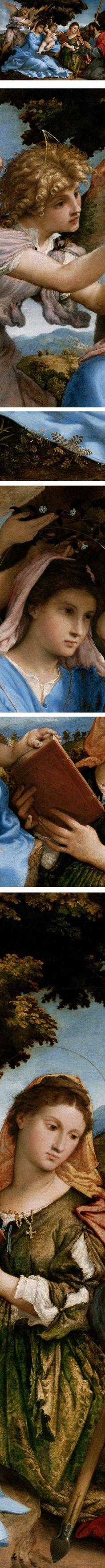 Madonna and Child with Saints Catherine and Thomas (sacra conversazione), Lorenzo Lotto