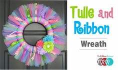 Learn how to make this adorable Tulle and Ribbon Wreath. Don't forget to check out our SPECIALS! https://www.theribbonretreat.com/custom/specials.aspx Links ...