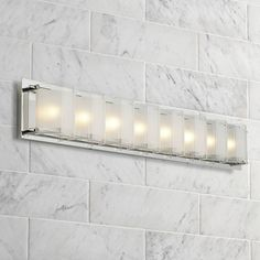 "Possini Euro Design Glass Bands 30 1/2"" Wide Bath Light - #77802 
