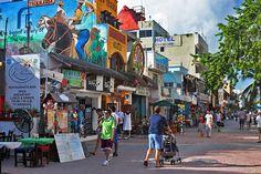 Funky, fun town of Playa del Carmen, on Mexico's Riviera Maya