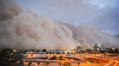 Arizona dust storm - get off the roads when these roll in from the open desert!