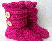 Crochet Slipper Boots - Women's Crochet Slippers - Crochet Slipper Booties - Crochet House Shoes - Ladies Slippers - Knitted Slipper Boot - pinned by pin4etsy.com