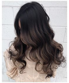 Luscious Balayage With Subtle Purple Tones - 20 Stunning Examples of Mushroom Brown Hair Color - The Trending Hairstyle Balayage Hair Dark Black, Balayage Hair Blonde Medium, Brown Hair Balayage, Brown Hair With Highlights, Hair Color Balayage, Chunky Highlights, Black Hair With Brown Highlights, Lowlights For Black Hair, Mocha Brown Hair