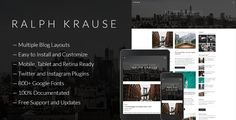 Download Ralph Krause - Author's WordPress Theme Nulled Latest Version