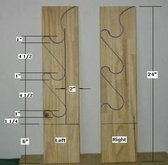 Free Gun Rack Plans - How to Build a Gun Rack - wouldnt use it for guns, but it might be excellent for weapons at camp Fishing Rod Rack, Fishing Rod Storage, Woodworking For Kids, Woodworking Projects, Woodworking Classes, Woodworking Videos, Youtube Woodworking, Woodworking Workshop, Custom Woodworking