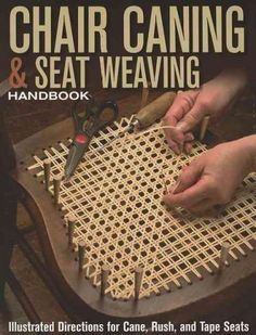 Restore and repair antique or worn-out chairs with this handy guide. Learn how to make repairs yourself and skip the high costs of professional craftsmen. With clear demonstrations of weaving patterns