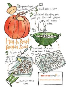 Prep a nutritious snack after you've carved your jack-o-lantern. Pumpkin seeds are heart healthy and can help protect against certain cancers. Roasted Pumpkin Seeds, Roast Pumpkin, Pumpkin Carving, Natural Kitchen, Cancer Fighting Foods, Nutritious Snacks, Shake It Off, Fodmap, Lantern