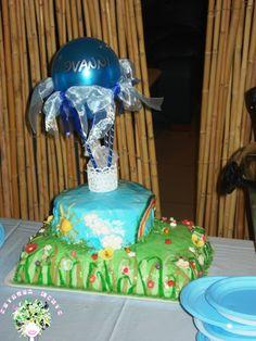 torta con mongolfiera