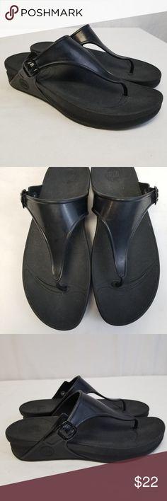 bfa75cae5 FitFlop Sandals Superjelly Sandal Flip flop SZ 10 FitFlop Sandals  Superjelly Sandal Thong Flip flop Black
