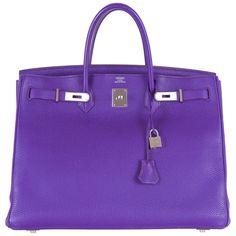 Hermes Birkin Bag Iris 40cm Palladium Hardware Togo super rare! JaneFinds | 1stdibs.com