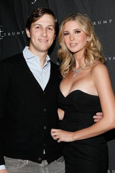NEW YORK, NY - DECEMBER 12: Jared Kushner and Ivanka Trump attend Ivanka Trump's Fine Jewelry Boutique opening at on December 12, 2011 in New York City. (Photo by Cindy Ord/Getty Images) via @AOL_Lifestyle Read more: https://www.aol.com/article/entertainment/2017/01/19/ivanka-trumps-dating-history-includes-hollywood-actor-topher-gr/21658741/?a_dgi=aolshare_pinterest#slide=4356515