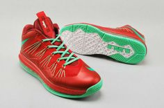 on sale 47ec7 35745 Lebron 10 Air Max Red Green Kobe Shoes, Air Jordan Shoes, Shoes World,